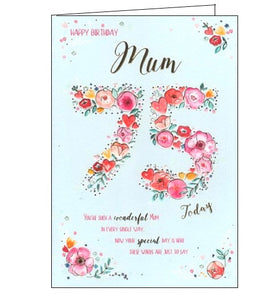 ICG mum on your 75th birthday card Nickery Nook