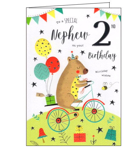 Wondrous To A Special Nephew On Your 2Nd Birthday Card Nickery Nook Funny Birthday Cards Online Alyptdamsfinfo
