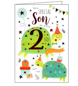 ICG son on your 2nd birthday card Nickery Nook
