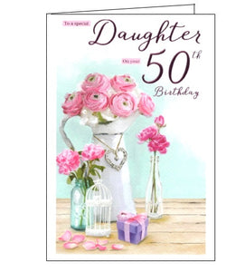 ICG special daughter on your 50th birthday card Nickery Nook