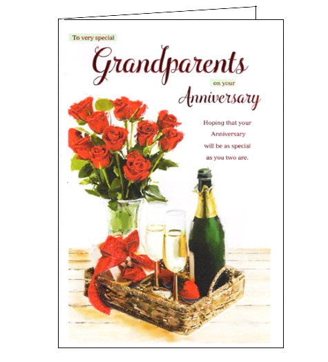 ICG to very special grandparents on your anniversary card Nickery Nook