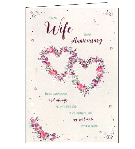 ICG wife on our anniversary card Nickery Nook