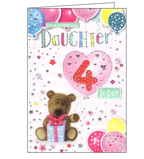 ICG barley the bear daughter 4th birthday card