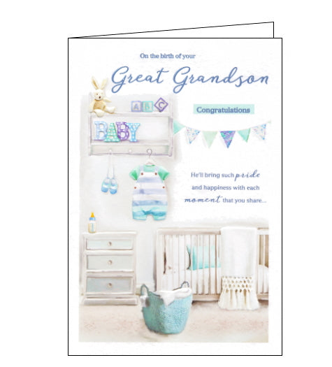 ICG birth of your great grandson card