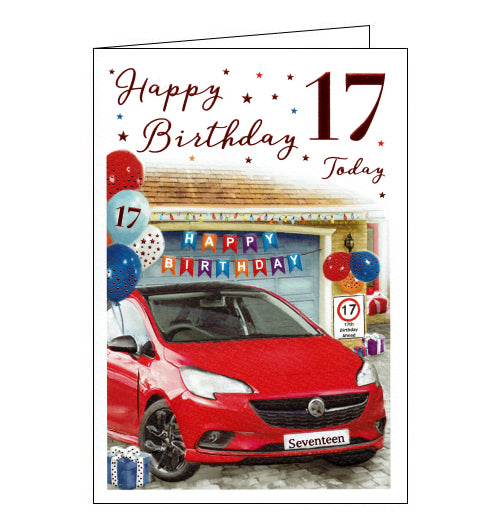 ICG car 17th birthday card