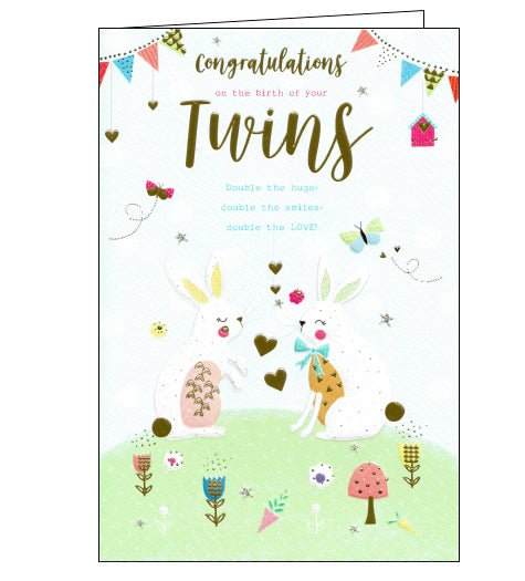 ICG congratulations on the birth of your twins card