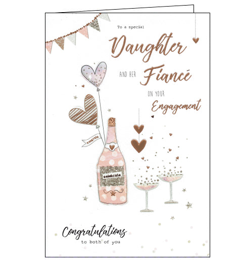 ICG daughter and fiance engagement card