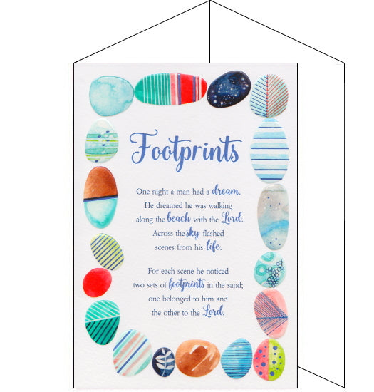 ICG eternal footprints poem card