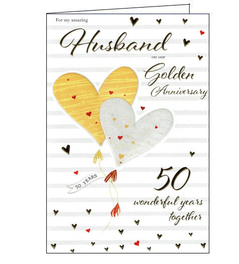 ICG golden wedding card for husband