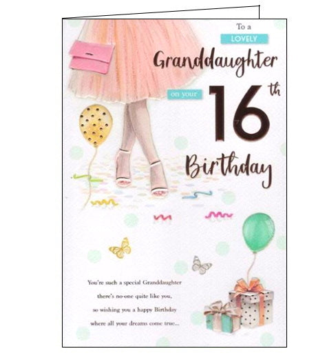 ICG granddaughter 16th birthday card