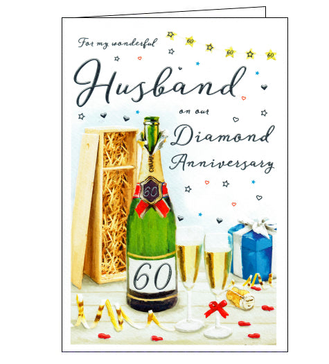 ICG husband on our 60th wedding anniversary card