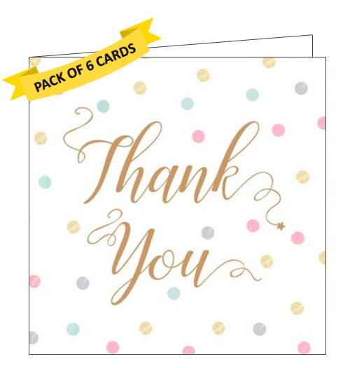 ICG pack of 6 thank you notelets calligraphy