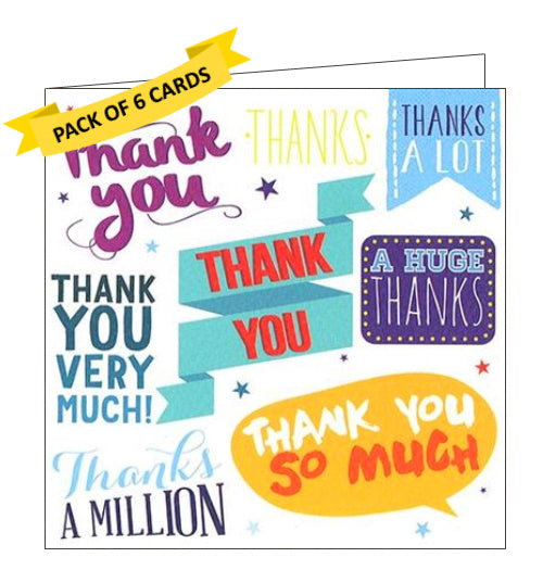 ICG pack of 6 thank you notelets ways to say thank you