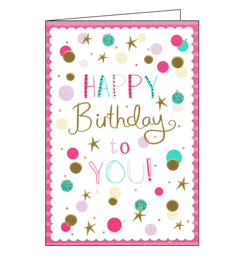 ICG pink birthday girl card