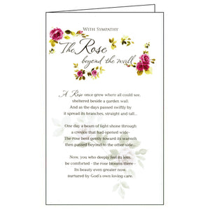 ICG rose beyond the wall sympathy card