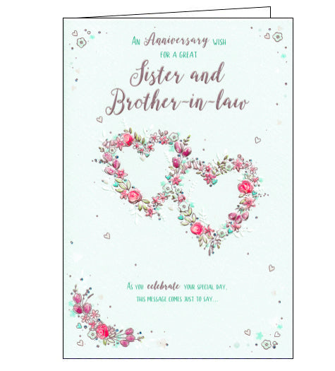 ICG sister and brother-in-law anniversary card