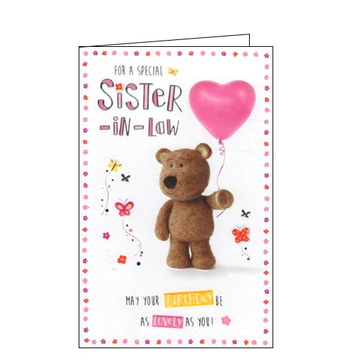 ICG sister in law birthday card