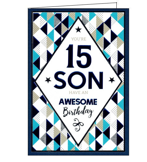 ICG son 15th birthday card for son