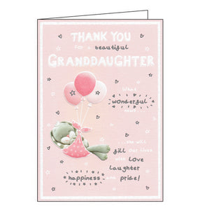 ICG thank you for a new granddaughter card