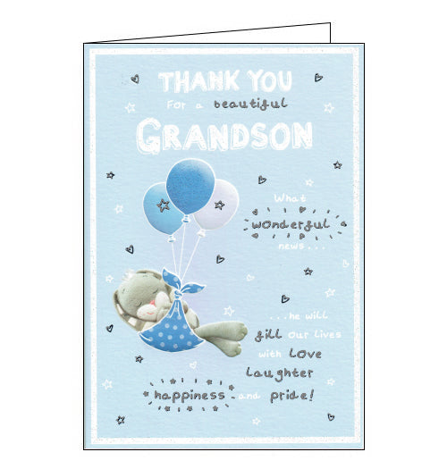 ICG thank you for a new grandson card