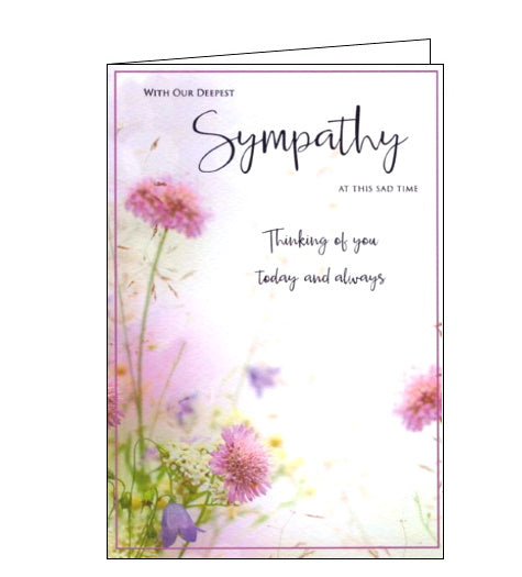 ICG with our deepest sympathy card