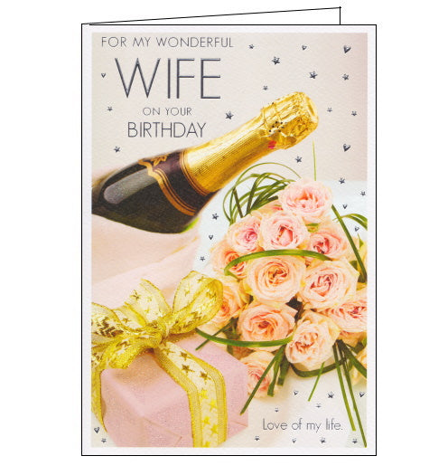 ICG wonderful wife on your birthday card for wife