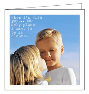 Icon Life is Sweet i want to be closer husband birthday card