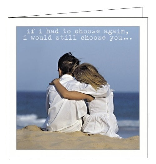 Icon Life is Sweet cute love romantic seaside husband birthday card Nickery Nook