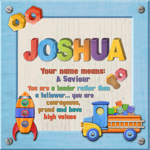 Tidybirds name meanings name definition plaque for kids Joshua Nickery Nook