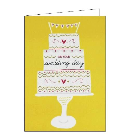 Jessica Hogarth - On Your Wedding day cake Congratulations card Nickery Nook