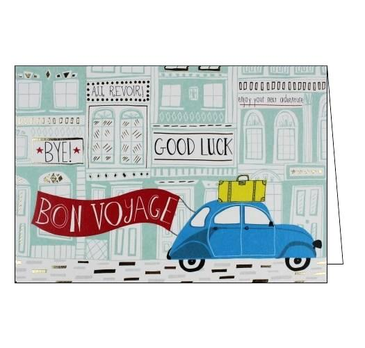 Jessica Hogarth Bon Voyage Good Luck card Nickery Nook