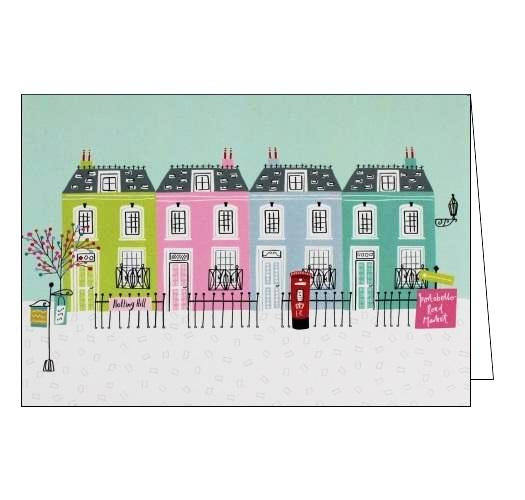 Jessica Hogarth Notting Hill London houses blank card Nickery Nook