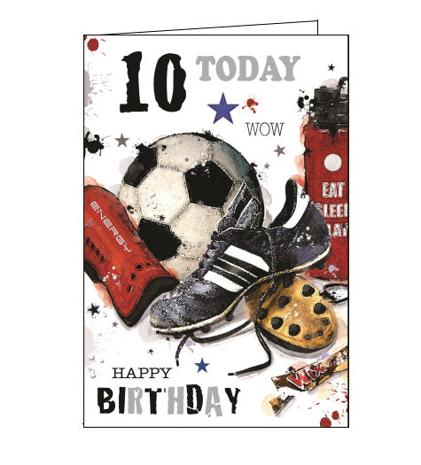 Jonny Javelin 10th birthday card boy
