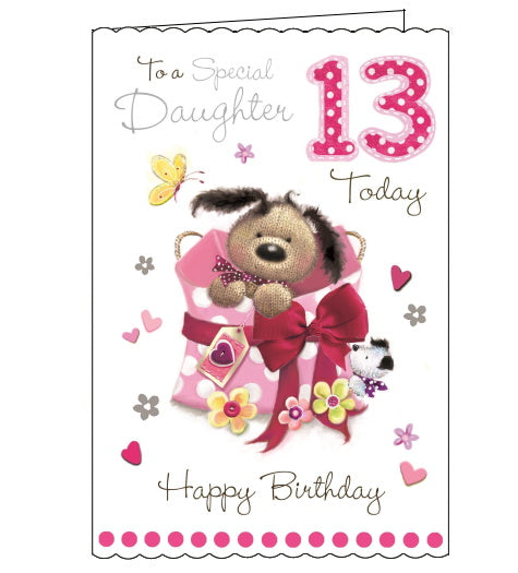 Jonny Javelin daughter 13th birthday card