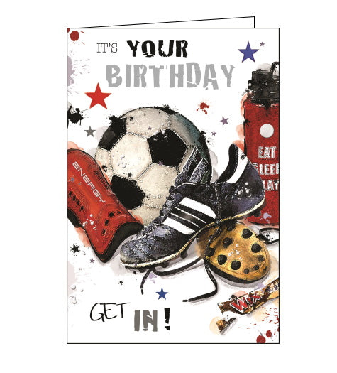 Jonny Javelin football birthday card