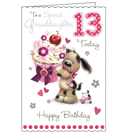 Jonny Javelin granddaughter 13th birthday card