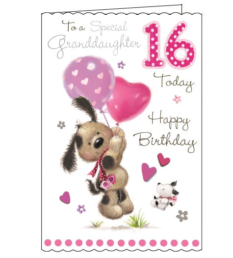 Jonny Javelin granddaughter 16th birthday card