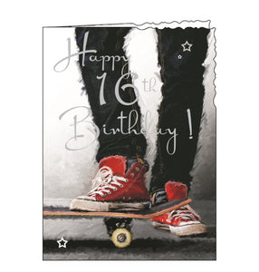 Jonny Javelin skateboard 16th birthday card