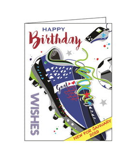 Jonny Javelin Bling football birthday card
