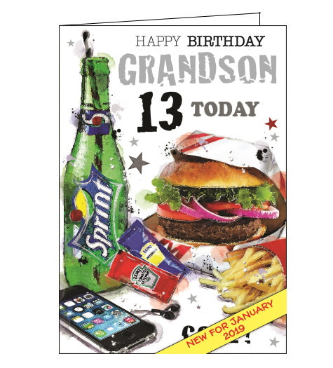 Jonny Javelin grandson 13th birthday card