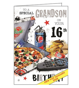 Jonny Javelin grandson 16th birthday card