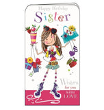 Jonny Javelin happy birthday sister cute girl birthday girl card Nickery Nook