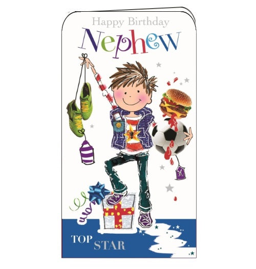 Jonny Javelin skateboarding nephew birthday card Nickery Nook