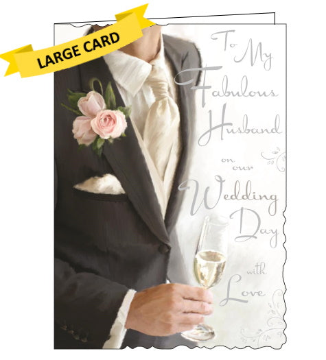 Jonny Javelin to my fabulous husband on our wedding day card Nickery Nook