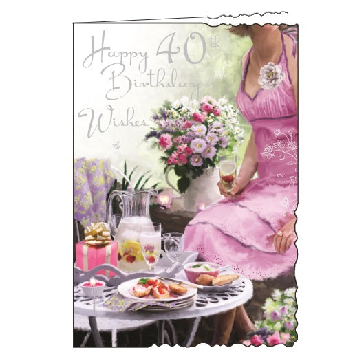 Jonny Javelin velvet shopping fashion 40th birthday card Nickery Nook