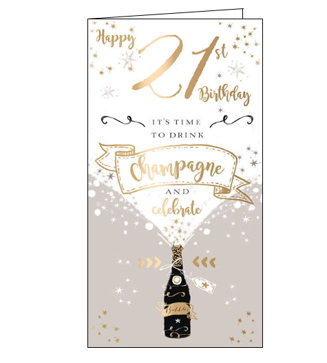 Ling Designs 21st birthday card