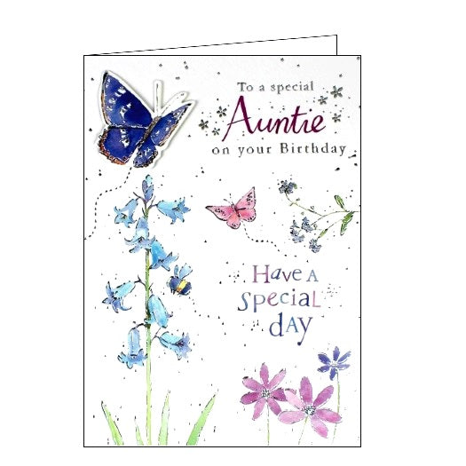 Ling Designs Special Auntie on your birthday card Nickery Nook
