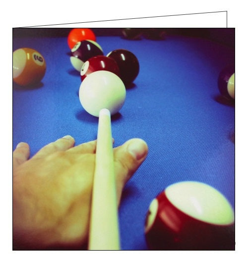 Ling Designs snooker billiards happy birthday card for him Nickery Nook