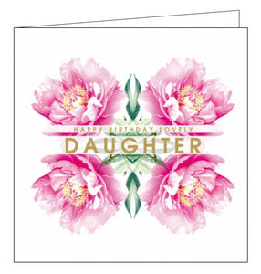Lola Designs flowers daughter birthday card