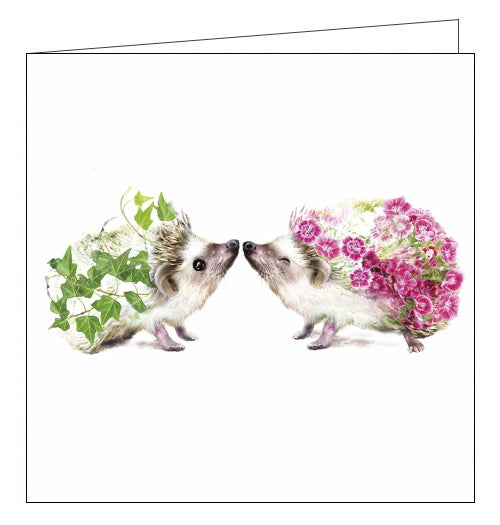 Lola Designs hedgehogs blank card